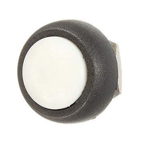 Interruptor Botón pulsador momentáneo para el hogar Accesorios pequeños Interruptor de botón de bocina de reinicio redondo (Color: Blanco)