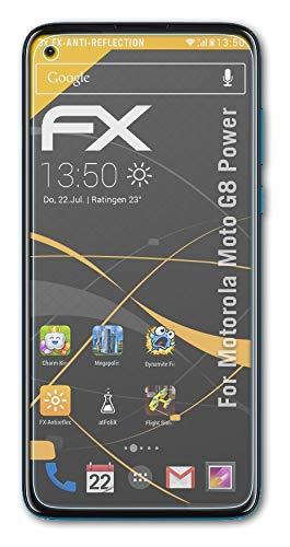 atFolix Panzerfolie kompatibel mit Motorola Moto G8 Power Schutzfolie, entspiegelnde & stoßdämpfende FX Folie (3X)