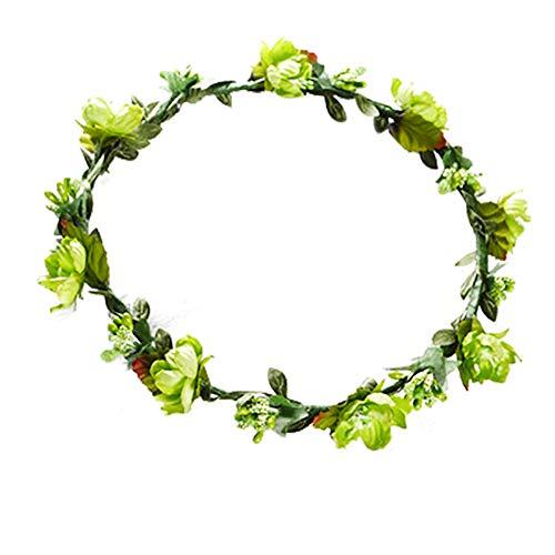 Namgiy Chapeau de mariée décoratif pour Cheveux 18 cm, Vert, 18 cm