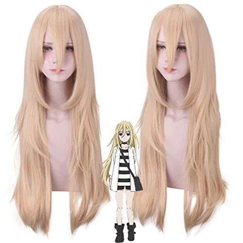 Angels of Death Ray Rachel Gardner Cosplay peluca para mujer 80 cm peluca de pelo sinttico largo y recto rubio peluca de fiesta de disfraces de anime