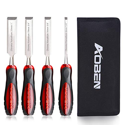 Aoben 4 Pieces Wood Chisel Sets for Carving