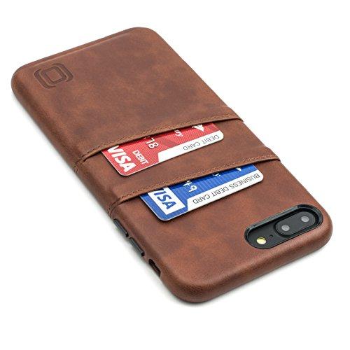 Dockem Exec Funda Cartera para iPhone 8 Plus y iPhone 7 Plus: Funda Tarjetero Slim de Piel Sintética Vintage con 2 ranuras para Tarjetas/DNI: Cubierta Simple, Profesional, Ejecutiva, Fácil de Instalar