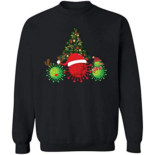 Morgan Schai Cov.i.d Co.Ron.avi.r.us with Santa Hat Sweatshirt, Unisex