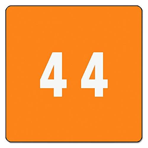 Smead DCC farblich gekennzeichnetes Nummernschild 4 250 Labels Orange