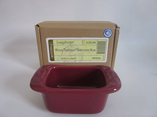 Longaberger Sugar Sweetener Holder Paprika Pottery