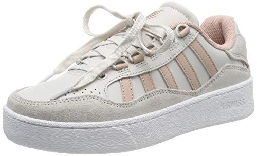 K-Swiss Unisex-Erwachsene Niedrig Sneaker SOTO, Weiß (White Sand/Cameo Rose 195), 37 (Herstellergröße: 4)