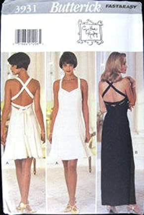 c79a541712400 Butterick Sewing Pattern 3931 Misses  Lined Dresses