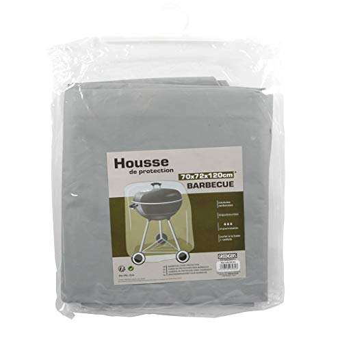 Greengeers - Funda protectora de PVC para barbacoa, color gris