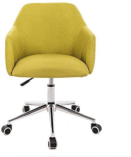 JIADUOBAO Multi-Farbiger zufälliger Computerstuhl, Küchen-Esszimmerstuhl, ergonomischer Handlauf und erweiterte Rückenlehne, abnehmbares und waschbares Design (Color : Yellow)