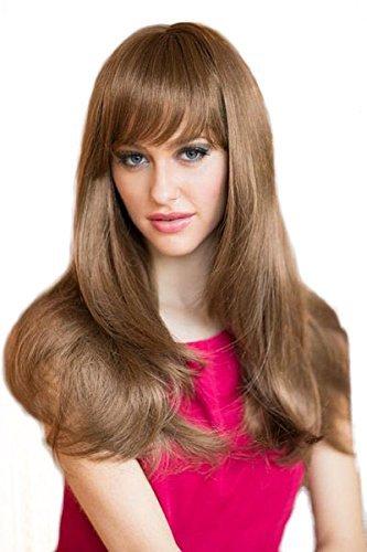 Perruque marron clair coupe rasoir Style : Lora