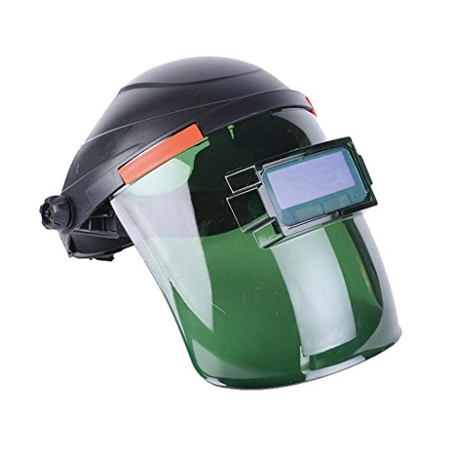 Fenteer Máscara del Visera del Casco De Seguridad del Escudo Facial Completo De Oscurecimiento Automático De La Energía Solar