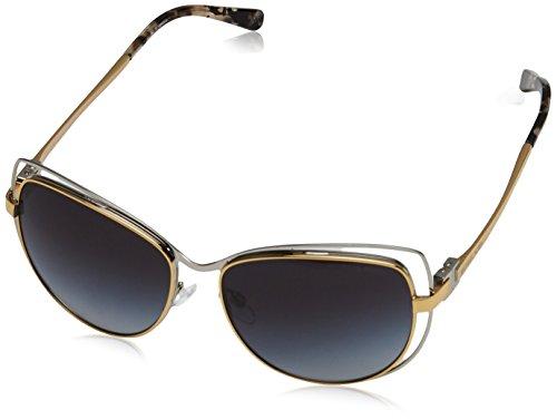 Michael Kors Audrina I Gafas de sol, Silver/Gold 112011, 58 Unisex-Adulto