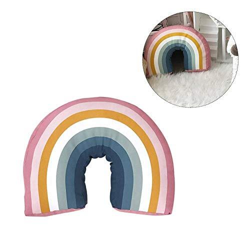 Libertry Kinderzimmer Regenbogenförmige Kissen Kissen Plüschtier Nackenkissen Büro Schlafkissen Baby Spielzeug Regenbogen