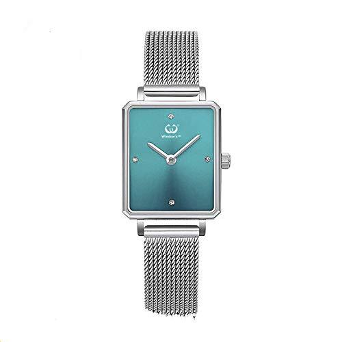 Eenvoudig roestvrij stalen vierkant dameshorloge, ultradun kwartsgaas riem waterdicht horloge, laat je een mooier horloge worden