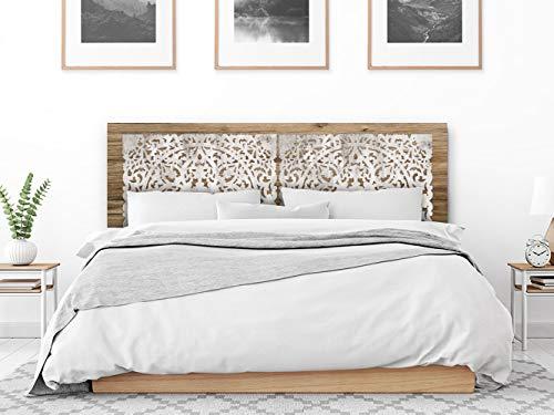 setecientosgramos Cabecero Cama PVC | Mondala | Varias Medidas | Fácil colocación | Decoración Dormitorio (200x60)