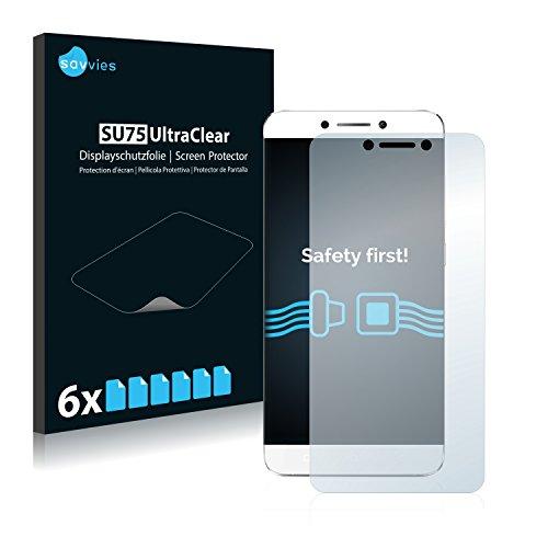 Savvies 6X Schutzfolie kompatibel mit LeEco Le 2 Pro Bildschirmschutz-Folie Ultra-transparent