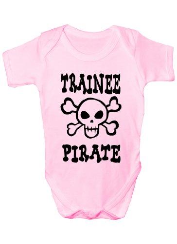 Trainee Body pour bébé Motif pirate/crâne et os croisés - Rose - 3-6 mois