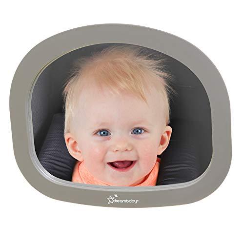 DreamBaby G1228bb - Dreamaby ezy-fit espejo retrovisor ajustable y irrompible28 cm x 23,5 cm gris, unisex,