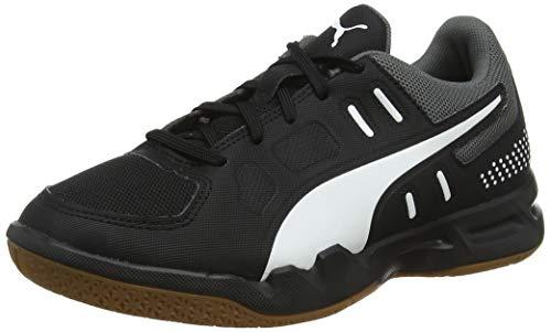 Puma Unisex-Kinder Auriz Jr Handballschuhe, Black White-Castlerock-Gum, 32 EU