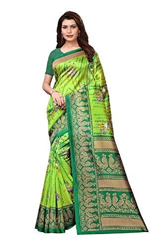 Indische Bollywood Hochzeit Saree indische ethnische Hochzeit Sari neue Kleid Damen lässig Tuch Geburtstag Ernte Top Mädchen Frauen schlicht traditionelle Party Wear Readymade Kostüm (perot green)