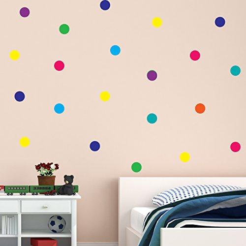 Polka Punkt Regenbogen mehrfarbig Vinyl Wandaufkleber Dekor Decal Mural Kinder Kinder Zimmer