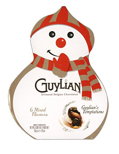 Caselle di Guylian's Temptations Cioccolatini belgi artigiani Christmas Box Snowman