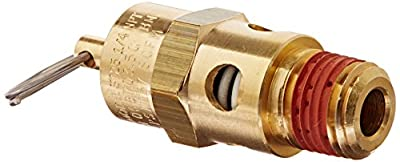 Control Devices ST25-1A175 ST Series Brass Soft Seat ASME Safety Valve, 175 psi Set Pressure, 1/4 Male NPT by Control Devices