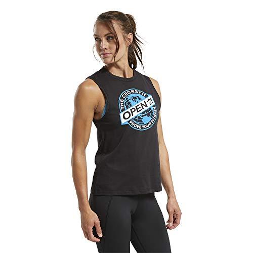 Reebok RC 2021 Open Tank Camiseta, Mujer, Negro, L