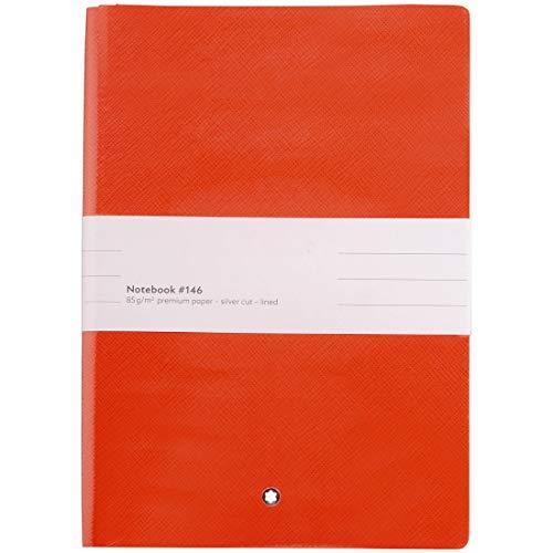 Montblanc Notizbuch #146 Fine Stationery, Ledereinband Modena Red, linierte Seiten, 14x9cm, 124019