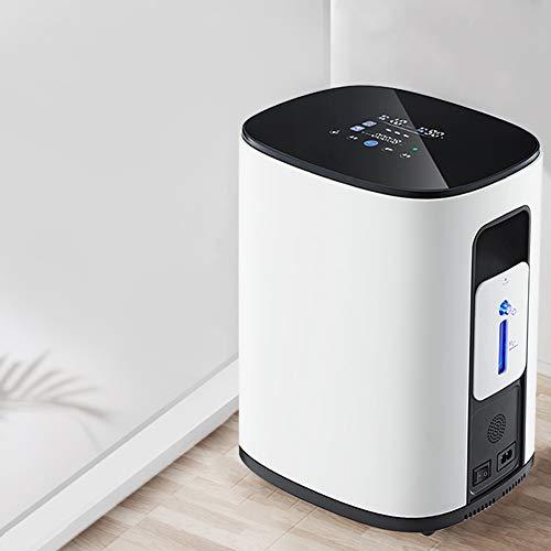 PAKASEPT Concentratore di ossigeno 1-7L / min 93% Dispositivo per ossigeno ad alto purificante, Esegui ininterrottamente per 48 ore, 220V Macchina per ossigeno portatile per uso domestico e di viaggio