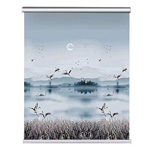 ZAQ Rollos Rollläden für Badezimmerfenster, Rollo im japanischen Stil für Wohn- / Schlafzimmer/Büro, wasserdichtes Gewebe, 80/90/100/115/130/140 cm breit (Size : 115×100cm)