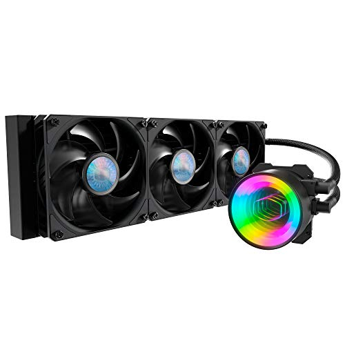 Cooler Master MasterLiquid ML360 Mirror ARGB CPU Liquid Cooler - 3rd Gen. Pump AIO Water Cooling...