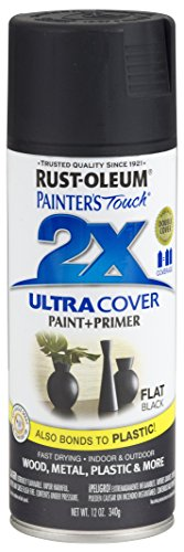 Rust-Oleum 249127-6 PK Painter's Touch 2X Ultra Cover, 6 Pack, Flat Black