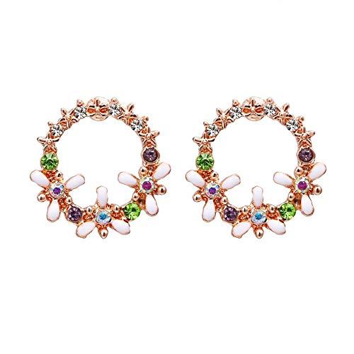 jieGorge Small Fresh Earrings Women's Temperament Simple Garland Earrings Petal Earrings , Earrings , Products for Xmas Day (H)