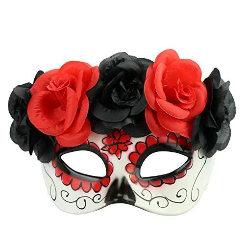 Halloween Horrible Sugar Skull Mask Mexican Dead Face Mask Mardi Gras Mask Masqurade Party Costume Accessory (Color 8)