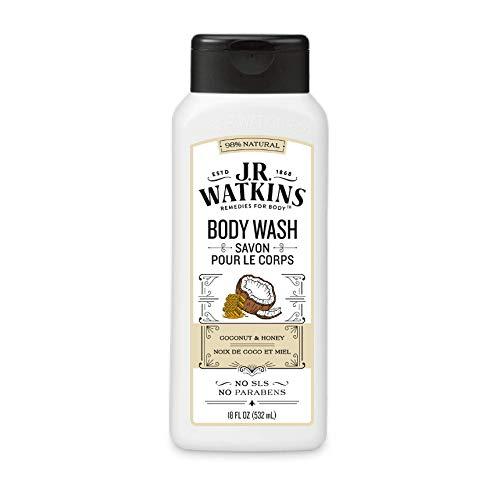 J.R. Watkins Daily Moisturizing Coconut Milk and Honey Body Wash, 18 Fl Oz