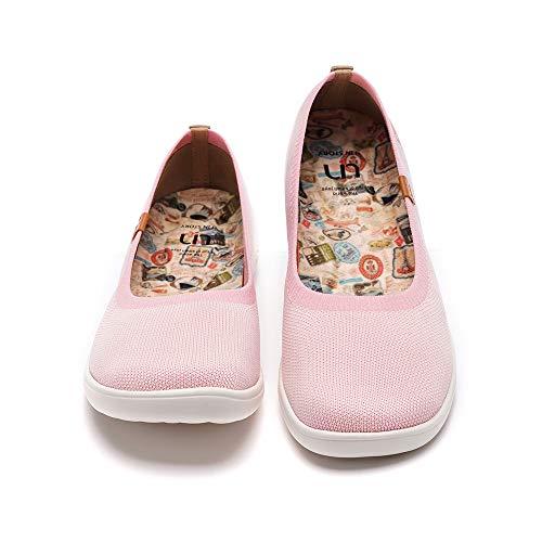 UIN Zapatillas de Ballet para Mujer Lindas Casual Fancy Knit Comfort Soft Zapatos Valencia(38)