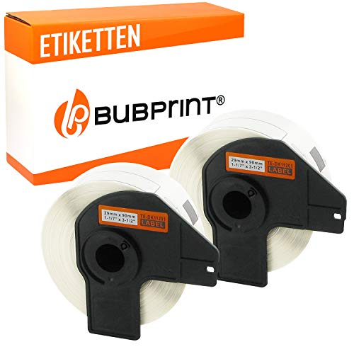 Bubprint 2 Etiketten kompatibel für Brother DK-11201 DK 11201 für P-Touch QL1050 QL1060N QL500BW QL550 QL560 QL570 QL580N QL700 QL710W QL720NW QL810W