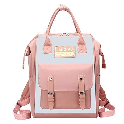 YRW Shoulder Mommy Bag Multi-Functional Mother and Diaper Bag Pink