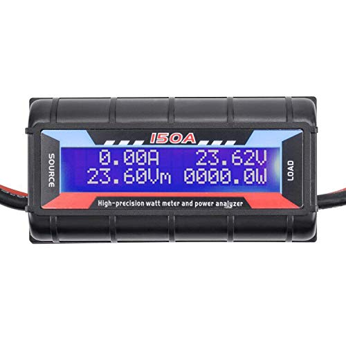 YoungRC Digital 150A RC Watt Meter Power Analyzer High Precision Battery Voltage Amp Meter With Backlight LCD Screen