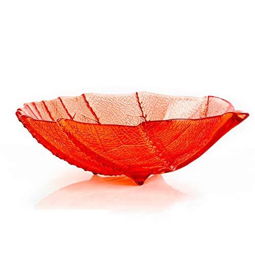 LY grote gekleurde blad Fruit Basket-Gemakkelijk te reinigen Home Décor Decoratieve Bowl. Serviesgoed, Serveerschalen, Serviesgoed - Diameter 13,4
