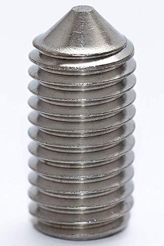 10 Stück Gewindestifte mit Spitze VA2 Madenschrauben DIN 914 M5x10