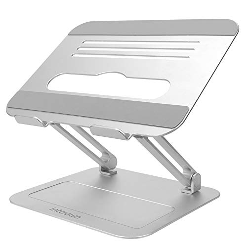 Intcrown Laptop Stand for Desk,Elevate Laptop Computer for Working from Home,Height and Angle Adjustable