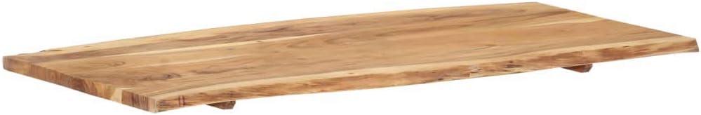 vidaXL Legno Massello di Acacia Piano del Tavolo Ripiano Superiore Piano di Appoggio per Tavolo Accessori per Tavole Ricambi 60x60x2,5 cm
