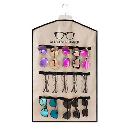 TRIUMPH VISION - Organizador de gafas de sol para montar en la pared - Organizador de gafas para armario