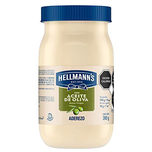 Hellmann's Mayonesa con Aceite de Oliva 390 g. Contiene huevos de campo y aceite...