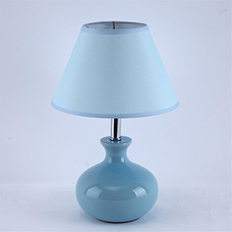 ZHOUYAN Keramik LED Landschaft Stoff Einfache Moderne Kreative Mode Fantasie Warme Schne Romantische Tischlampe Schlafzimmer Nachttisch Kinderzimmer 20  30 cm