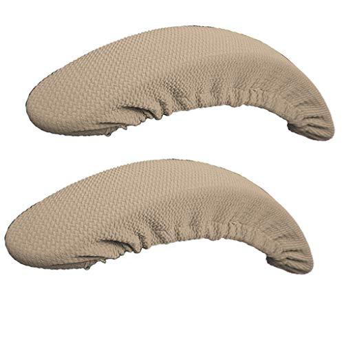 F Fityle 2pcs Armlehnenbezüge Armlehnenschoner Armlehnenschutz für Schreibtischstuhl/Bürostuhl - Khaki