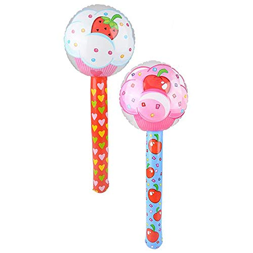 The Dreidel Company Large Cupcake Lollipop Inflate, 36' Tall, Perfect for Kids, Gatherings, Bag Fillers, Classroom Prizes, Event Decorations, Ideal Party Favors (2-Pack)