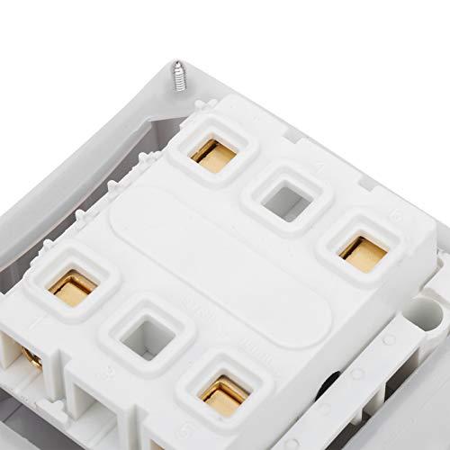 Interruptor impermeable de 250 V para lugares al aire libre(2P16A, pink)